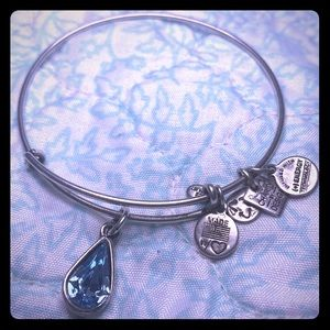 Alex and Ani - Aquamarine bangle bracelet
